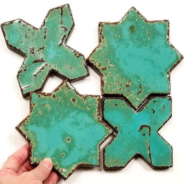 Antique Star Cross Tile - MOSAIC WORLD