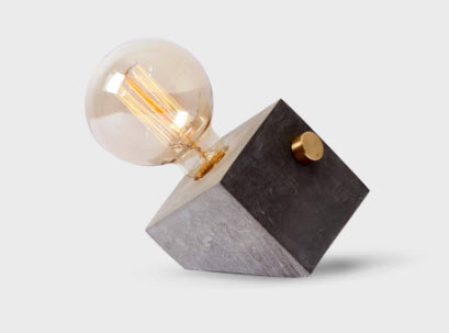 Angled Cement Lamp - LOOXURY