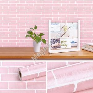 Giấy dán tường giả gạch hồng C0049A