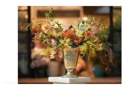 Bình hoa Hồng nâu & Tiểu đinh vàng