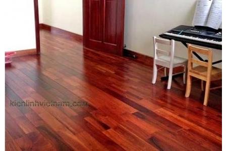 Sàn gỗ Hương Lào ghép dọc