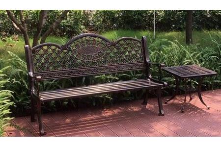 Ghế băng nhôm đúc sân vườn