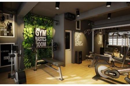 Tường cây giả trang trí phòng tập Gym