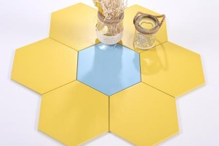 Gạch lục giác màu vàng KT 200x230x115mm M23205