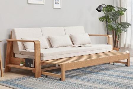 Sofa giường gỗ tự nhiên - Sofa Bed 200B