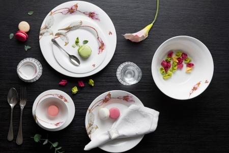 Bộ đồ ăn 14 sản phẩm - Tulip Loa Kèn Hồng