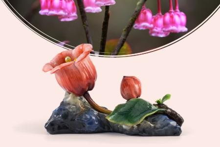 Sứ Nghệ thuật - Hoa Chuông 30 cm - Màu đỏ