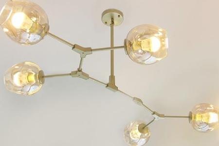 Đèn chùm trang trí 5 bóng thủy tinh MOLUX 1650-5