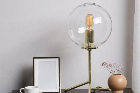 Đèn bàn Thủy tinh cao cấp CASAMOTION Bubble Clear