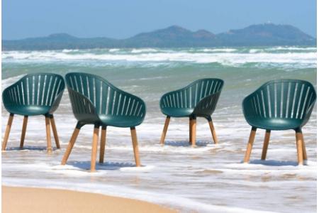 Ghế ngoài trời 100% làm từ nhựa tái chế thu hồi từ đại dương DURAOCEAN
