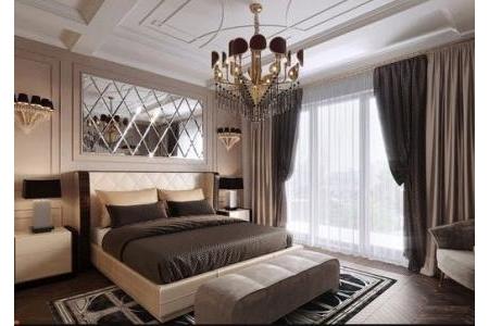 Gương ghép quả trám phòng ngủ