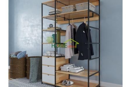 TQA68009 - Tủ quần áo không cánh nhiều ngăn PINLEG hiện đại - 120x60x200 (cm)