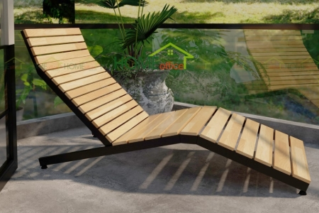 RC68001 - Ghế thư giãn RECHA gỗ cao su - 150x60 (cm)