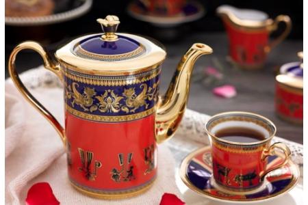 Bình cà phê 0.8 L - Tulip Trắng - Trống Đồng