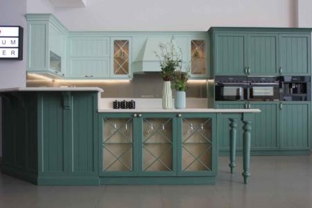 Tủ bếp CALAMATTE GREEN