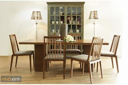 Bộ bàn ăn Rita + 8 ghế