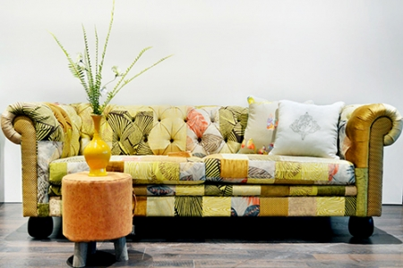 Sofa Opera Vải Tông Vàng