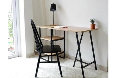 Bàn làm việc Shelf Table màu gỗ