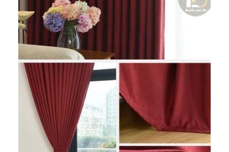 Rèm vải cao cấp SOFT Red