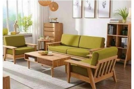 Bộ salon – sofa gỗ sồi SP 096