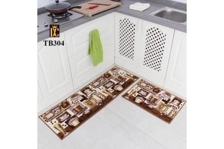 Bộ thảm nhà bếp nỉ TB304