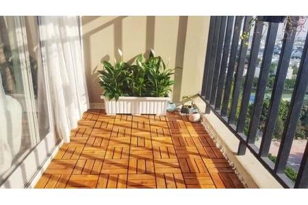 Ván sàn ban công gỗ tự nhiên-12 nan