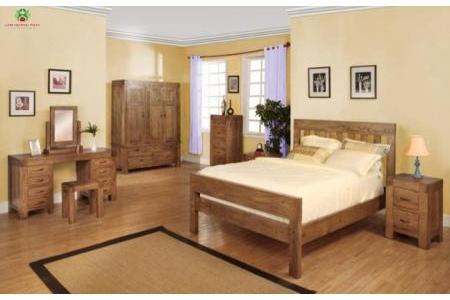 Giường pano gỗ