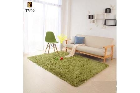 Thảm lông trải sàn màu xanh cốm TV09