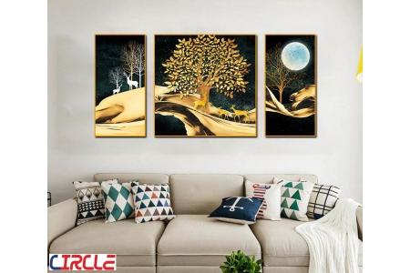 Bộ 3 tranh canvas nghệ thuật (40×60)