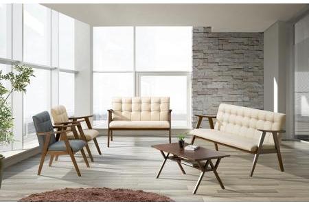 Ghế Sofa Samosir 3 chỗ gỗ tần bì ( Ash ) - S316001
