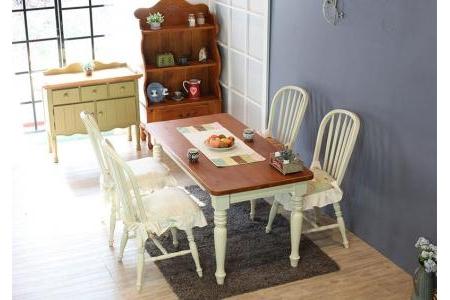 Bộ bàn ăn Y06-Bàn ăn 4 chỗ Pleasance (Cream white), Ghế riêng