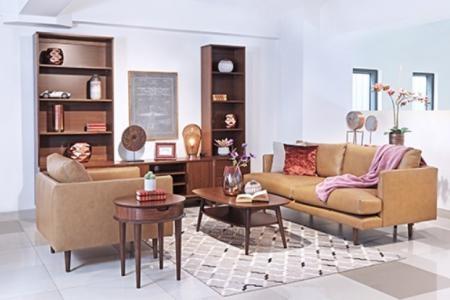 Sofa Pop 2,5 chỗ + 1 armchair Da Fango