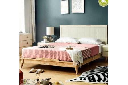 Giường ngủ Pansy (gỗ cao su nhiều kích thước)
