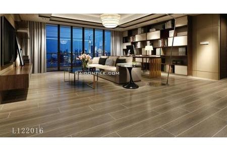 Gạch giả gỗ cao cấp khổ lớn 20×120 men matt L122016