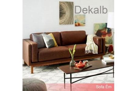 Ghế Sofa Băng Da Dekalb