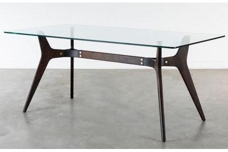 Bàn ăn Dining table with glass