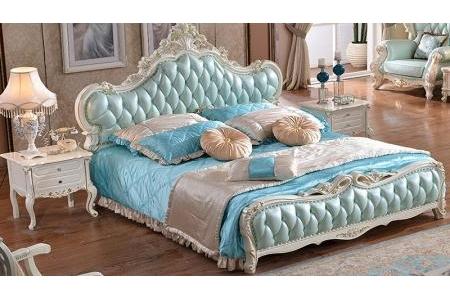 Giường ngủ bọc da cổ điển G134