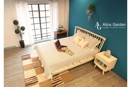 Giường Queen Modern Alice (màu trắng) [Nệm riêng] - Z02
