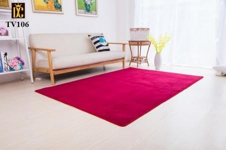Thảm sofa phòng khách màu đỏ TV106