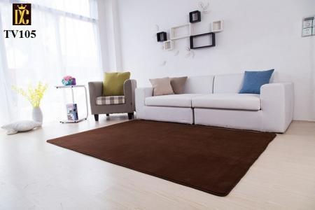 Thảm trang trí phòng khách màu xám TV105