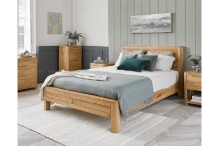 Giường Emley 100% gỗ sồi Mỹ(nhiều kích thước)