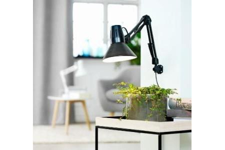 Đèn bàn ERNST kim loại/ nhựa đen/ trắng; DK15xH55cm