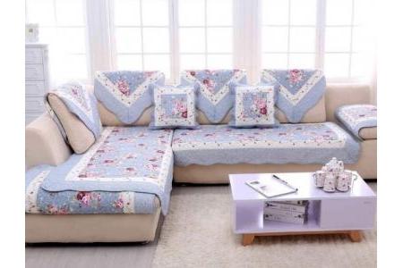 Thảm sofa - Hoa hồng viền xanh