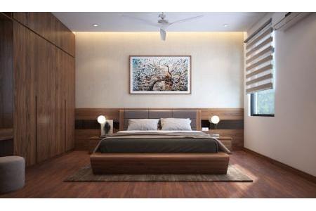 Giường gỗ óc chó kiểu Nhật GN-05