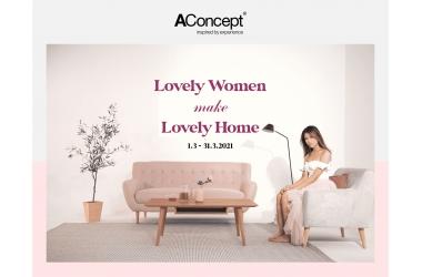 Siêu khuyến mãi của AConcept - Chương trình chào đón tháng 3 yêu thương