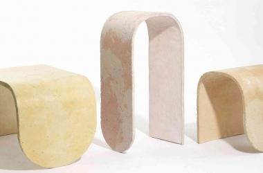 Ghế đôn Concrete Stools – Sự hòa hợp giữa bê tông và màu sắc