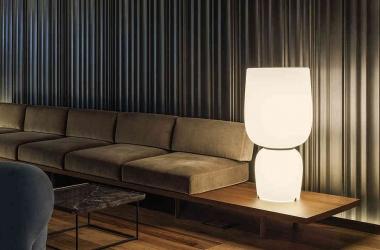 Không gian tao nhã với chiếc đèn mang phong cách đương đại