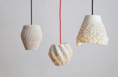 Những chiếc đèn từ gốm tái chế