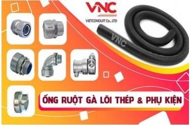 Ống ruột gà lõi thép Vietconduit được sản xuất từ thép nguyên chất 99,9%