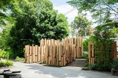 Độc đáo với nhà vệ sinh công cộng bằng gỗ tuyết tùng ở Tokyo